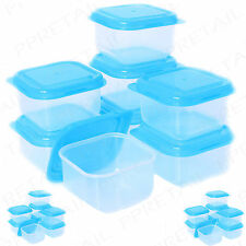 16 X PLASTICA BABY FOOD SVEZZAMENTO PENTOLE di archiviazione Confezione Mini/PICCOLI CONTENITORI FREEZER