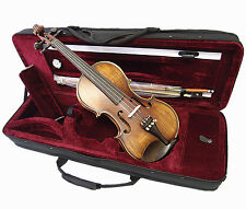 New Antique Style 1/2 Hand-Made Violin +Bow +Rosin +Square Case  Limited