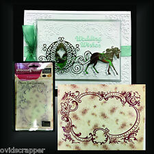 Frame embossing folders HEARTS EASE EMBROIDERY Couture Creation folder CO724387