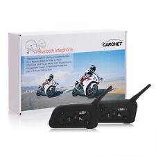 CARCHET 2X Interphone Intercom Casque Bluetooth Pour Moto 1200m 6 Motocycliste
