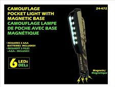Prime-Lite 6 LED Camouflage Pocket Clip Pen Size Light Torch Lamp With Magnet