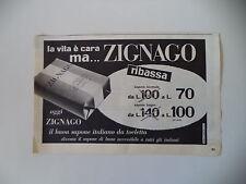advertising Pubblicità 1956 SAPONE ZIGNAGO