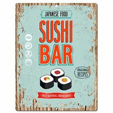 PP0570 Sushi Bar Plate Chic Sign Store Shop Cafe Home Kitchen Sushi Bar Decor