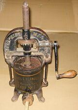 Vintage Antique Enterprise Mfg Co No 15 2 quart sausage stuffer machine + plates