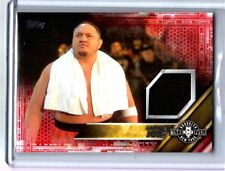 WWE Samoa Joe 2016 Topps Event Used NXT Takeover Mat RED Relic Card SN 1 of 1