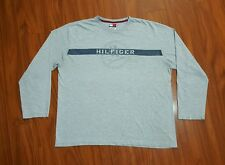 VINTAGE 90s TOMMY HILFIGER jeans long sleeve t shirt mens XL Spell Out VTG