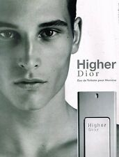 Publicité advertising 2002 Parfum Higher de Dior