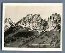 Suisse, Jaunpass, Sattelspitzen & Gastlosen   Vintage silver print. Switzerland.