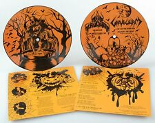 "Nunslaughter / Gravewurm split 7"" vinyl picture disc hellhammer venom black"