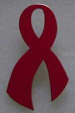AIDS/HIV Awareness red ribbon pin, made in USA