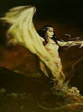 Frank Frazetta Print The Sea Witch Mythical Poster Art Serpents Oceans Waves