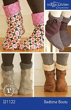 BEDTIME BOOTS SEWING PATTERN, From Indygo Junction NEW