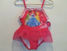 New DISNEY PRINCESS Girl's Pink One-Piece Swimsuit w/ Crinoline TuTu, Size  2T