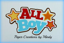 Craftecafe Mindy boy kids premade paper piecing title for scrapbooking page