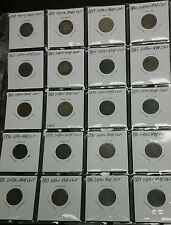 1857-1886 INDIAN HEAD PENNY Flying Eagle Cent 20 Dif Dates PARTIAL SET Civil War