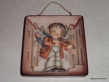 Little Fiddler Goebel Hummel Wall Plaque Figurine #93 TMK3 - CHRISTMAS GIFT!
