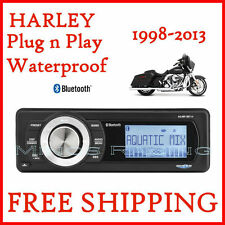 AQUATIC AV HARLEY FACTORY RADIO REPLACEMENT With BLUETOOTH STEREO 1998-2013