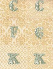 "BTY Alphabet on Beige ""Love Notes"" Toile Andover 100% Cotton Quilt Shop Fabric"