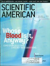 2001 Scientific American: Cord Stem Cells/Space Storms/Tele-Immersion/GM Foods