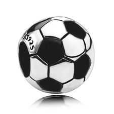 soccer ball charm authentic 925 sterling silver European Charm Bead fit bracelet