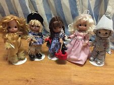 Sample Exclusive Precious Moments Wizard of Oz 9 In. Doll Set w/ Stands Included
