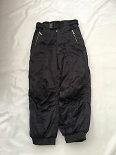 "Vintage 80's Mens Rodeo Black Ski Trousers Waist 30"" Vgc #417"