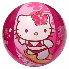 "Inflatable Beach Ball 20"" Sanrio Hello Kitty Surfing Aloha Hawaiian NEW"