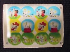 SNOOPY Woodstock & Lucy Hologram Uncut Sheet of 12 For Buttons/Merchandise 12x9""