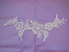A White bridal floral lace Applique / wedding lace motif for sale.Sold by piece