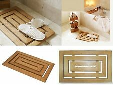 DUCK BOARD WOODEN BAMBOO WOOD BATHROOM LUXURY RECTANGULAR SHOWER BATH MAT MODERN