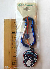 Girl Scout HOLIDAY FUN KEYCHAIN Snowman Christmas Stocking Stuffer Gift NEW