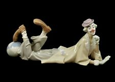 LLADRO LARGE RETIRED FIGURINE #4618 CLOWN LYING DOWN MINT