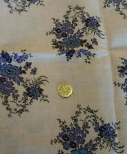 #3 Vintage Feedsack Fabric Material blue & pale pink purple black floral quilts