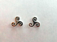 Pair Of Sterling Silver  925  Spirals  Of  Life  Ear Studs  !!    Brand  New  !!