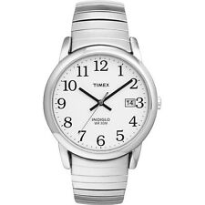 Mens Timex Indiglo Easy Reader Stretch Expansion Stainless Date Watch T2H451