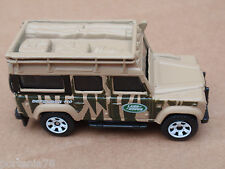 2011 Matchbox LAND ROVER DEFENDER 110 100/100 Jungle Explorers LOOSE Tan
