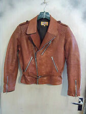 VERY RARE VINTAGE 50'S AMERICAN JOHN MIKEL'S LEATHER MOTORCYCLE JACKET SIZE M