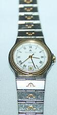 Maurice Lacroix 29795 DAMENUHR Edelstahl Uhr mit klassichem Goldmatel
