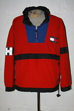 VTG Tommy Hilfiger Athletics Flag Logo Red Pullover Windbreaker Jacket Sz XL