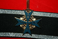 WW1 GERMAN FAMOUS BLUE MAX POUR LE MERITE NECK MEDAL HIGH QUALITY DOUBLE SIDED