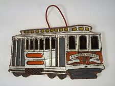 Vintage Victoria Littlejohn Ceramic San Francisco Cable Car Trivet Plaque