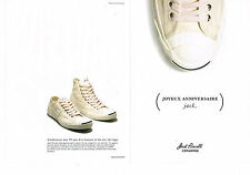 PUBLICITE ADVERTISING 124  2010  JACK PURCELL  baskets tennis CONVERSE ( 2p)