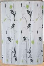 Reed Plants With Green Leafs Flowers Bathroom Shower Curtain Polyester & Hooks