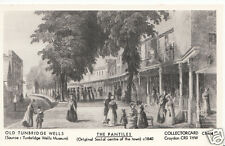Kent Postcard - Old Tunbridge Wells - The Pantiles c1840   M998