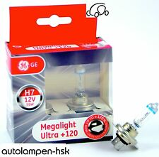H7 12V 55W MegaLight Ultra +120% MORE LIGHT 2 St by GE TOP PRICE