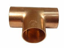 28mm End-feed Tee | Solder Plumbing Fitting For Copper Pipe