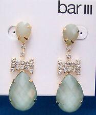 Bar III Gold Tone Faux Diamond & Stone Bowtie Teardrop Dangle Earrings