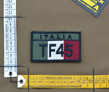 "Ricamata / Embroidered Patch ""Italian Flag TF45"" OD with VELCRO® brand hook"