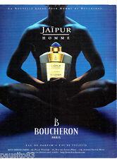 PUBLICITE ADVERTISING 086  1998  Boucheron eau de parfum Jaipur homme
