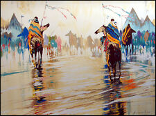 "BC Nowlin ""This Way"" Signed Numbered Serigraph on Canvas, native americans L@@K!"